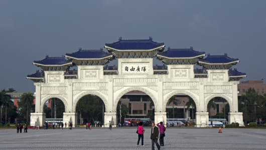"The ""Freedom Gate"" located in Taipei, Taiwan."