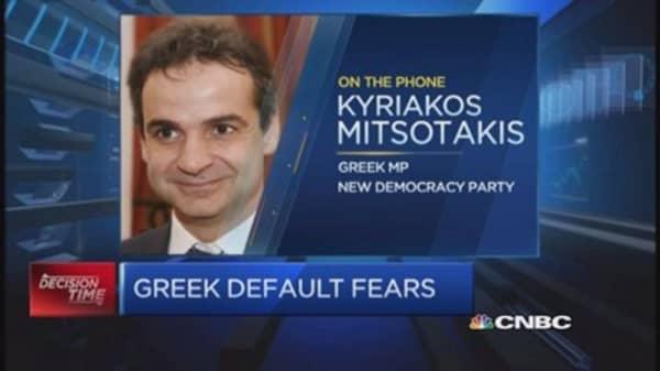 Greek MP discusses default fears