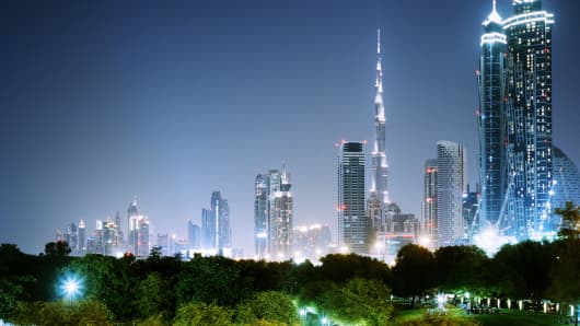 Skyline of Dubai, UAE
