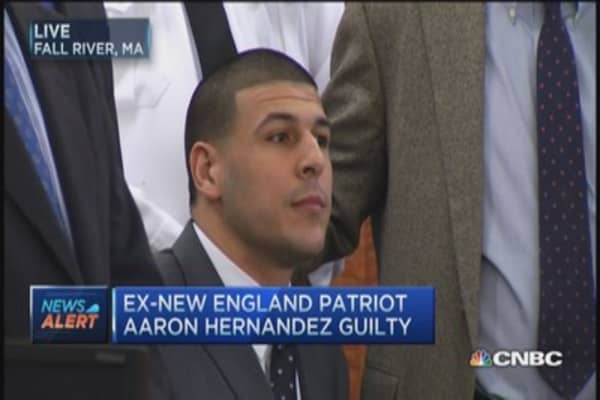 Aaron Hernandez guilty of 1st-degree murder