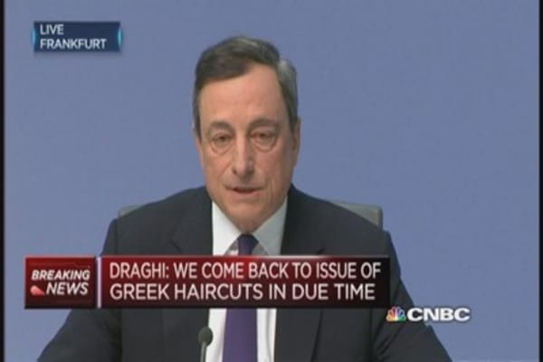 Draghi: No evidence of bubble yet