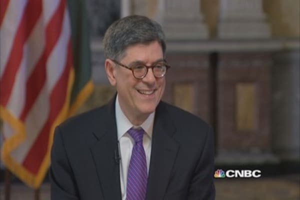 Lew: Data always noisy, US economy will continue growth