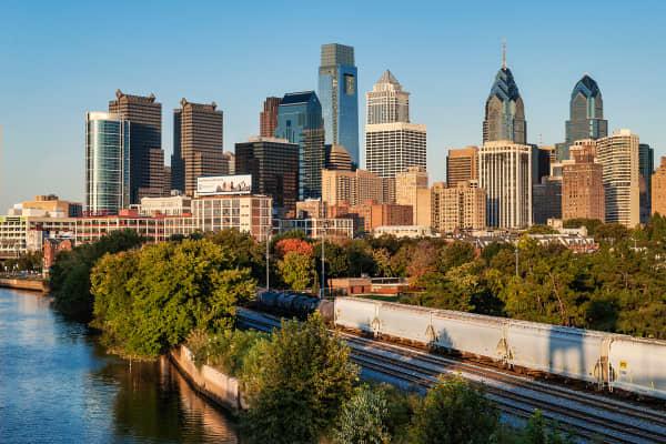 Skyline of Philadelphia, Pennsylvania
