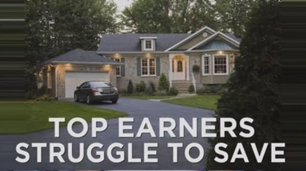 Top earners struggle with retirement savings