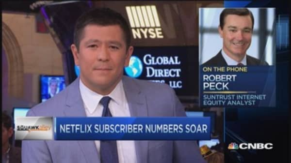 Netflix rips higher; Analyst on sidelines