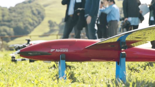 A drone powered by Airware