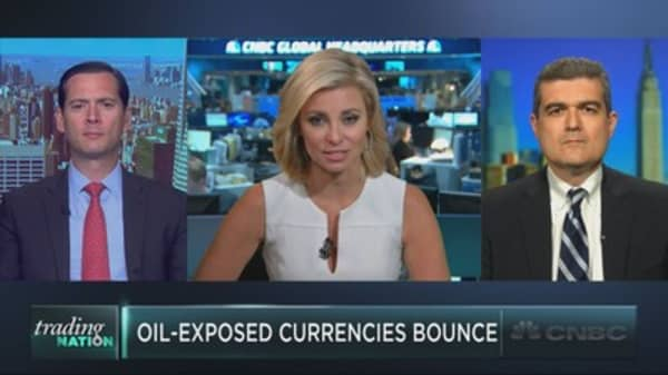 The currencies bouncing with crude