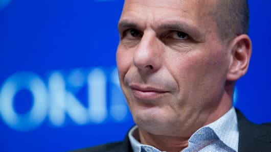 Yanis Varoufakis, Greece's finance minister.