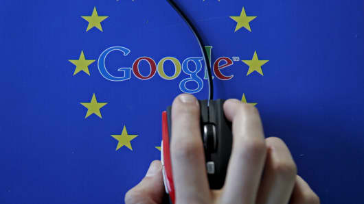 The European Union accused Google Inc on Wednesday of cheating competitors by distorting Internet search results in favour of its Google Shopping service and also launched an antitrust probe into its Android mobile operating system.