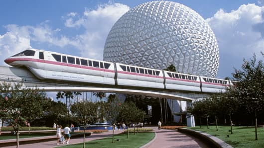 Epcot Theme Park and monorail