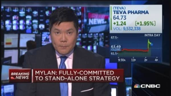 Mylan: Fully committed to stand alone strategy