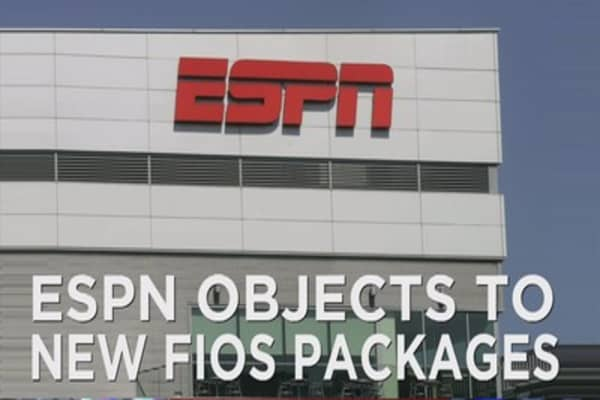 ESPN objects new Verizon FiOS packages