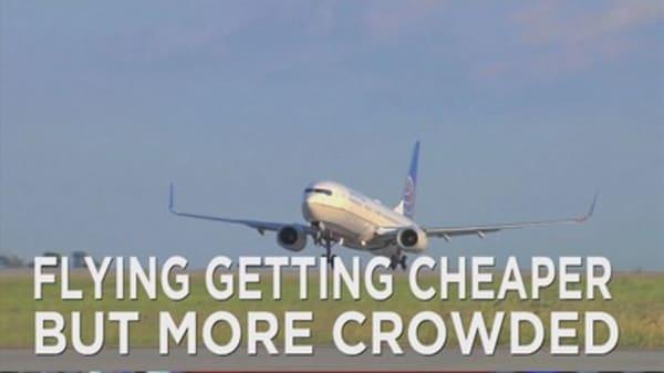 Flight prices down