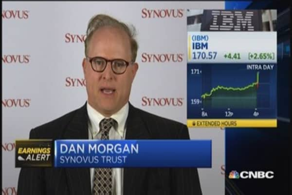 IBM beats on EPS; misses on revenue