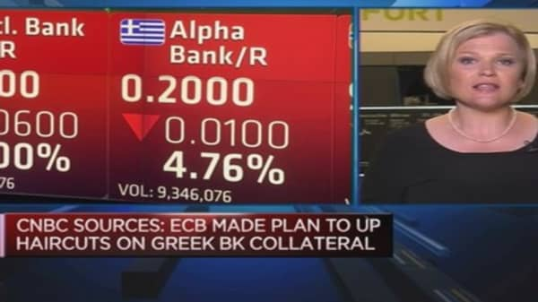 ECB may increase haircuts on Greek collateral: Sources