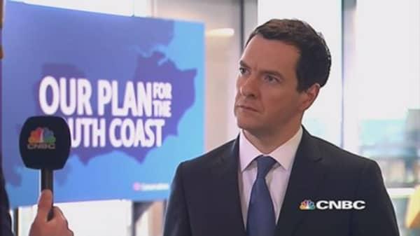 Osborne: Vote Tory for jobs, prosperity
