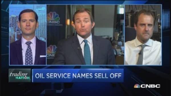 Oil service stocks selloff