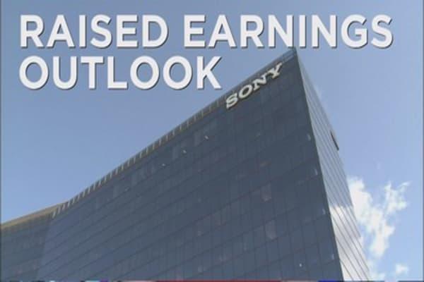 Sony raises earnings outlook