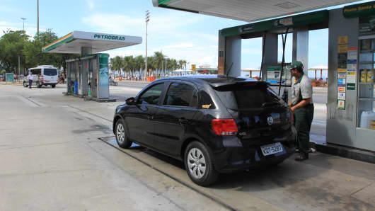 A Petrobras gas station in Rio De Janeiro, Brazil.