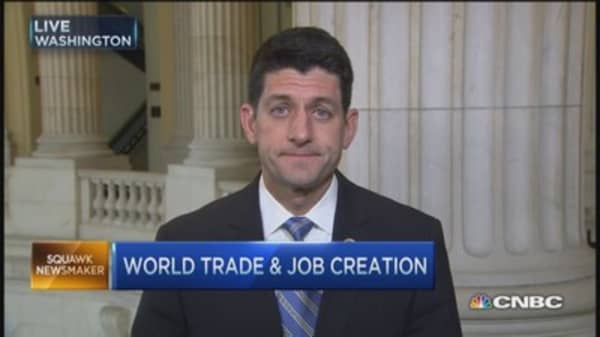 Rep. Ryan: If US sits back on trade, China will step up