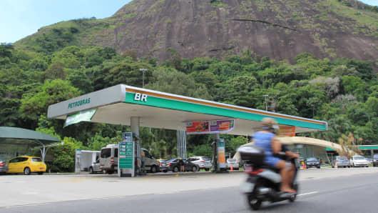 A gas station in Rio De Janeiro, Brazil.