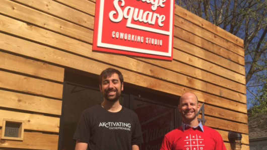 Adam Arredono and Matthew Marcus are co- leaders of the Kansas City start-up village.