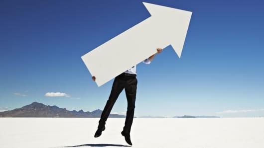 Leadership up arrow
