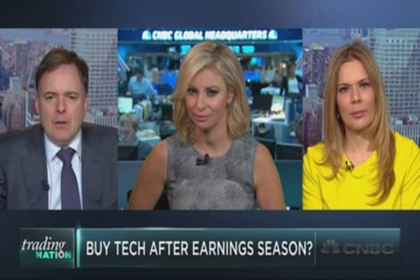 Buy tech after earnings season?