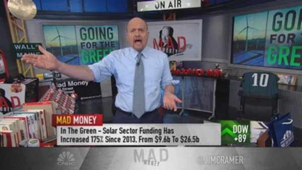 Cramer: Green energy sector ripe for consolidation