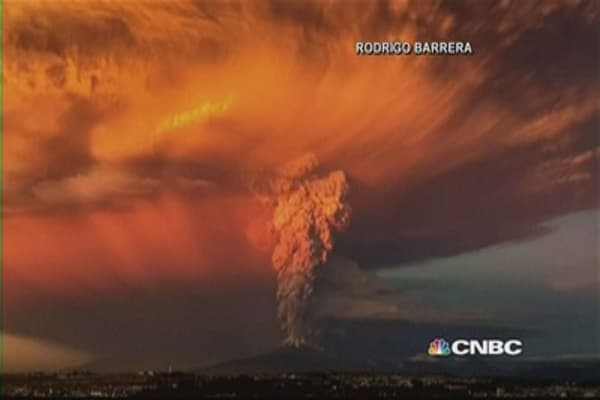 Watch this massive volcano eruption in Chile