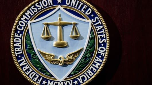 The logo of the U.S. Federal Trade Commission is seen in Washington, D.C.