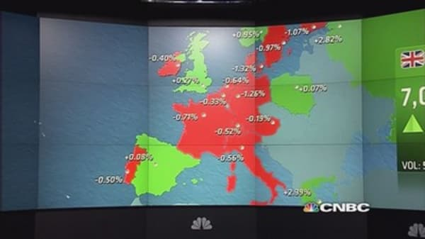 Europe ends lower after soft PMIs, Ericsson tanks