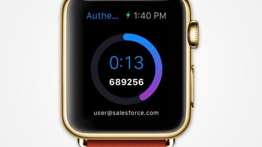 Salesforce app on Apple Watch