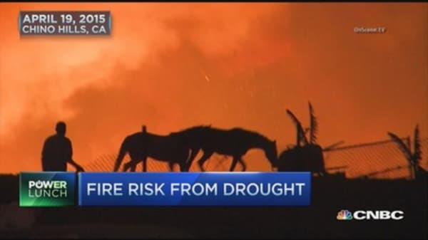 'Extreme' fire risk from drought