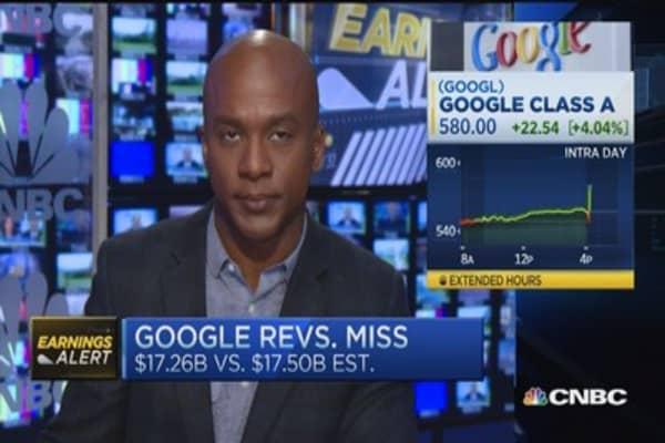 Google misses on top, bottom line