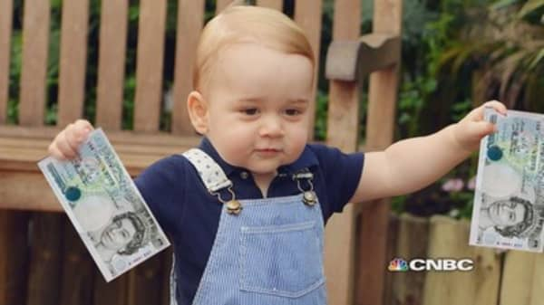 Baby with bank