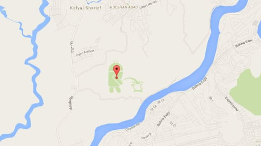 Google Map Android pees on Apple