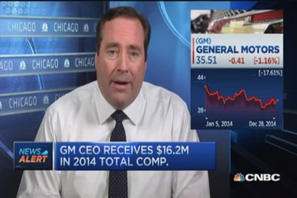 GM CEO receives $16.2M