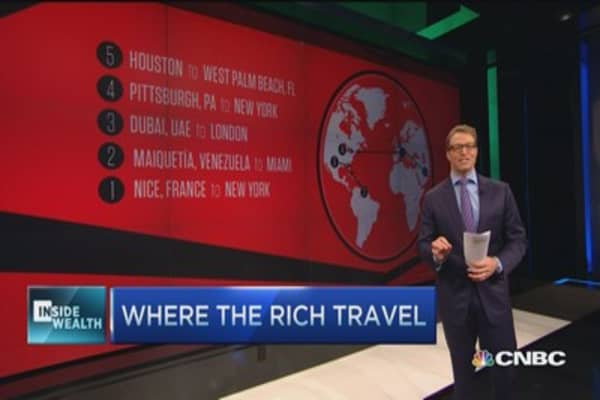 Where the rich travel