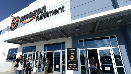 Amazon's San Bernardino Fulfillment Center in San Bernardino, Calif.