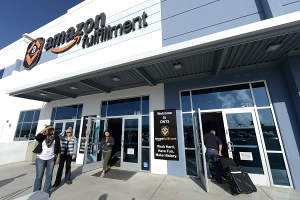 Amazon's San Bernardino Fulfillment Center in San Bernardino, Calif.