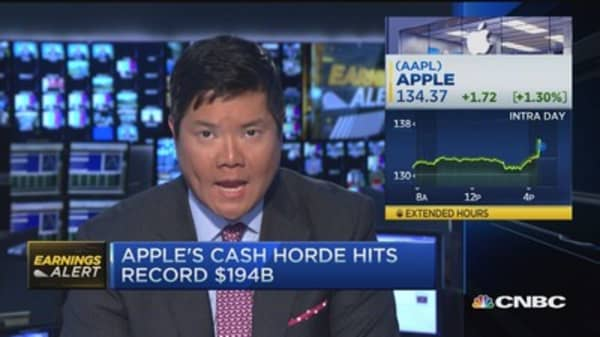 Apple's cash horde hits record $194 billion