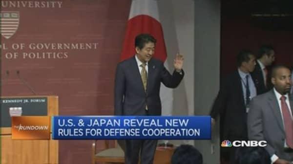 Amid Abe's visit, Kerry renews US security pledge