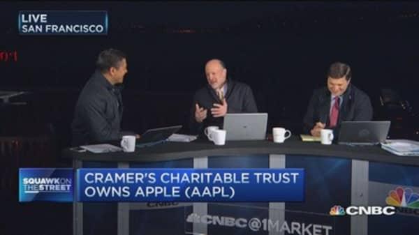 Cramer: Demand, China key for Apple