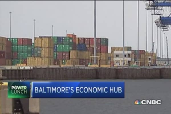 Ports open in Baltimore