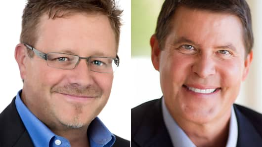 DocuSign founder Tom Gonser (left) and Keith Krach, chairman and CEO