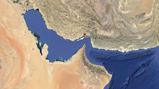 Bandar Abbas in Iran, where Iranian forces detained the cargo ship Maersk Tigris on April 28, 2015.