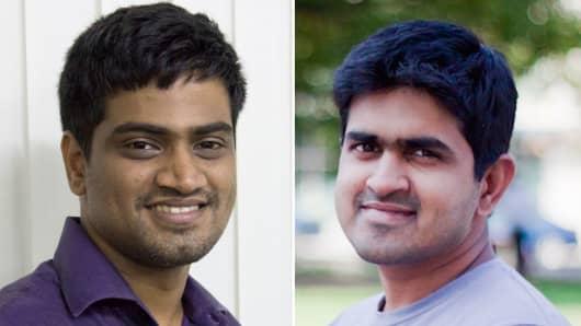 Harishankaran and Vivek Ravisankar, co-founders of HackerRank