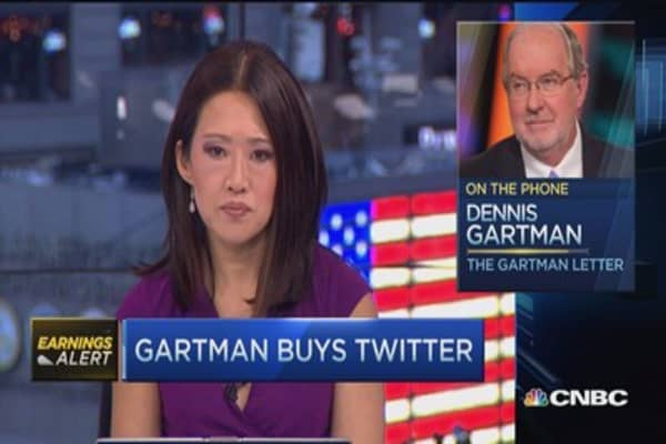 Gartman buys Twitter