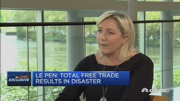 France needs intelligent protectionism: Marine Le Pen